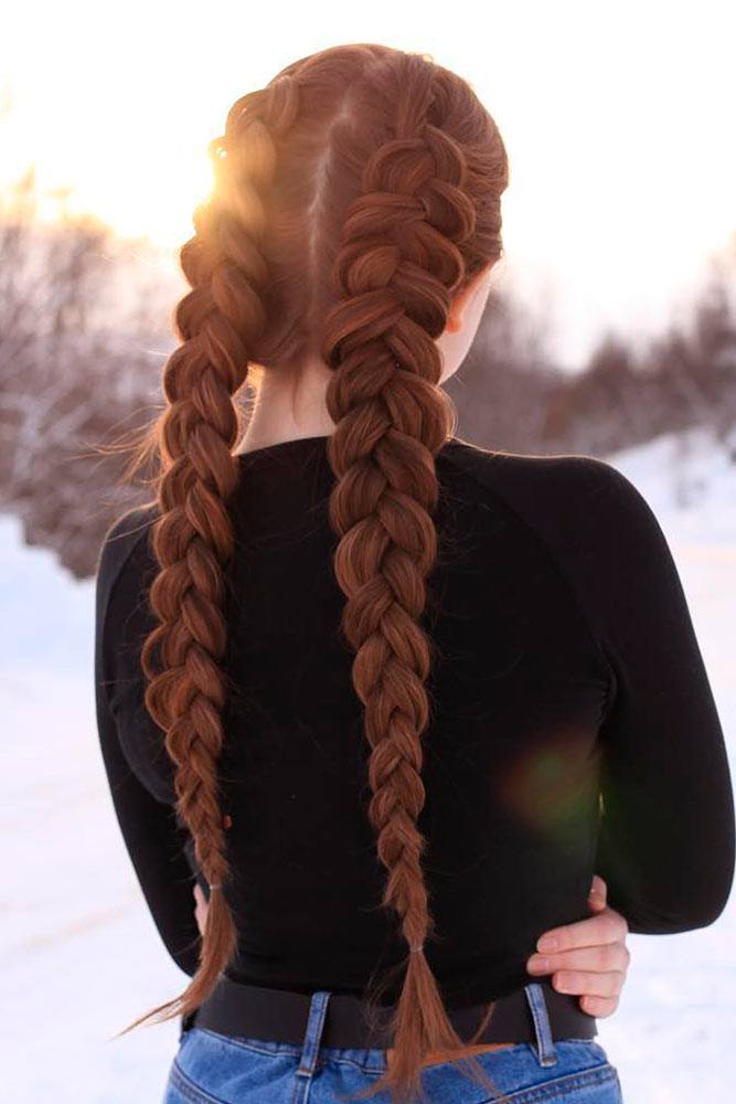 Long Dutch Braids Hairstyles #dutchbraids #longbraids