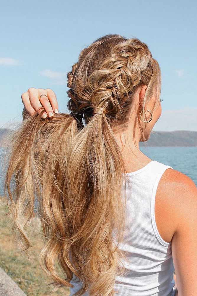 Dutch Braids Ponytails #pony #summerhairstyles
