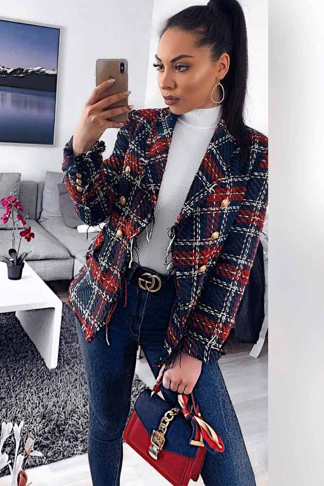 What Is A Tweed Jacket? #jeans #whitetop