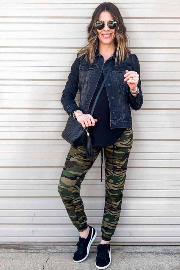Pants With Black Denim Jacket Outfit #denimjacket