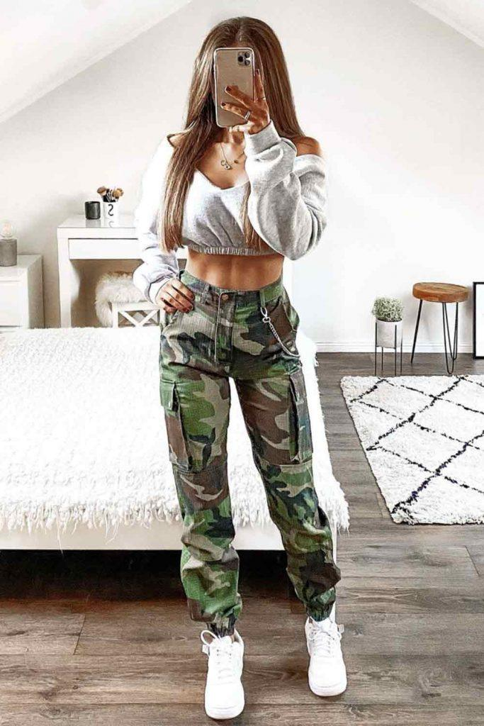 What Colors Go Well With Camo? #croptop