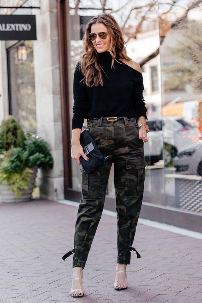 Cargo Pants With Black Top #cargopants