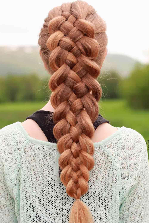 Long Braid With Crimped Hair #braid #braidedhairstyle