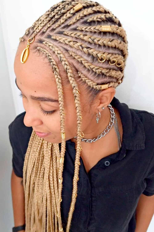 Fulani Braids Caring #stylishlook #blondehairstyle