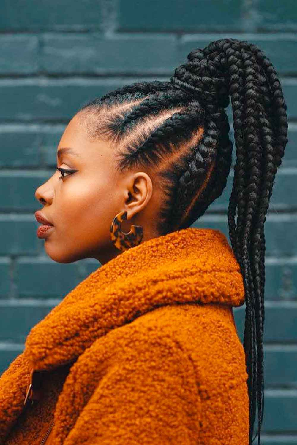 Fulani Braids Into Ponytail #braids #ponytails