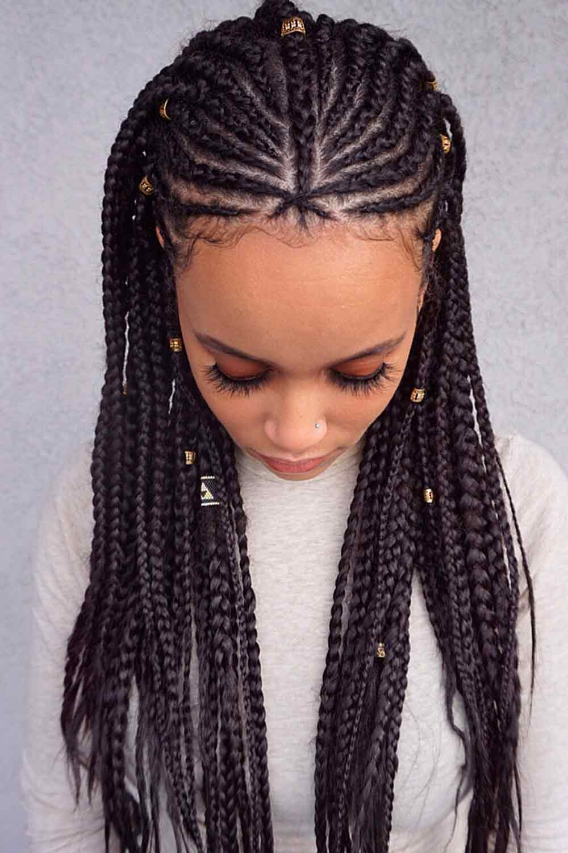Classic Fulani Braids #easyhairstyles #prettyhairstyles