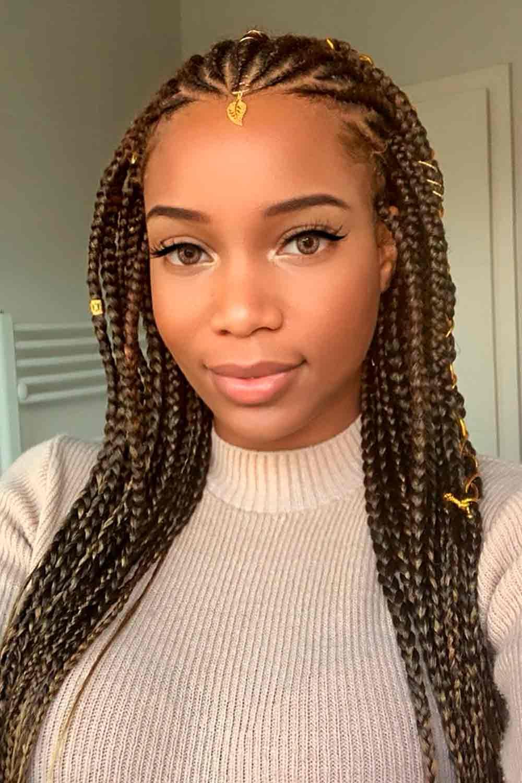 Goddess Fulani Braids #goddesshairstyles #longhair
