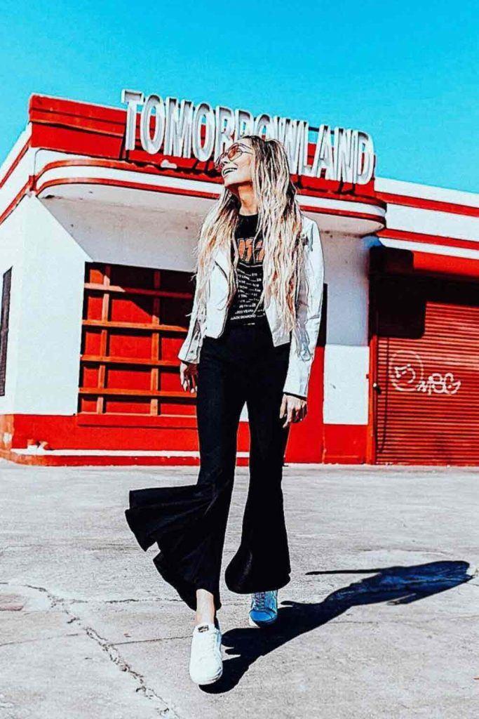 Black Pants With Leather Jacket #leatherjacket