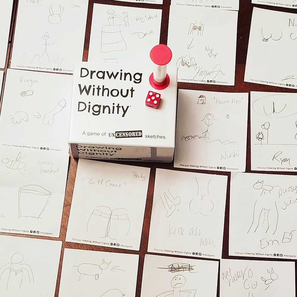 Drawing Without Dignity Adult Party Game #drawinggame