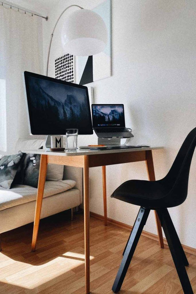 Small Work Space With Black Color Accent #modernchair