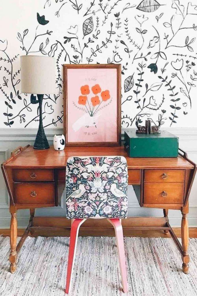 Retro Style For Home Office Organization #retrofurniture