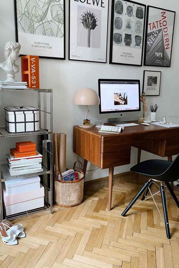 Home Office Décor In Industrial Style #retrodesk