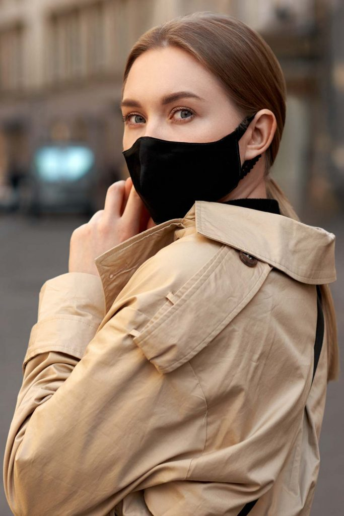 Black Mask with Trench Coat
