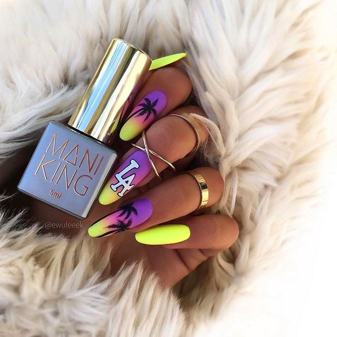 Matte Bright Neon Colors For Summertime
