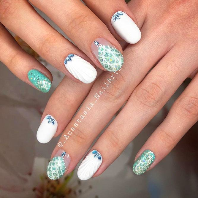 Mermaid Summer Nails Art