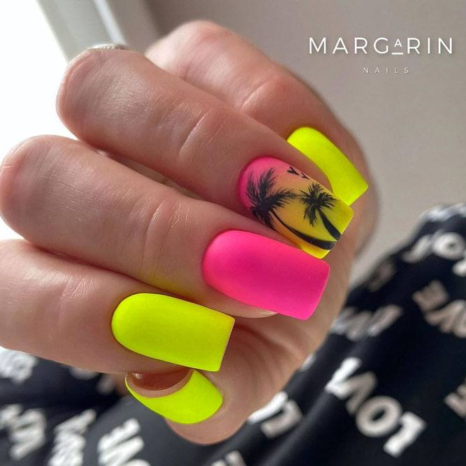 Pink-Yellow Neon Colors For Summertime