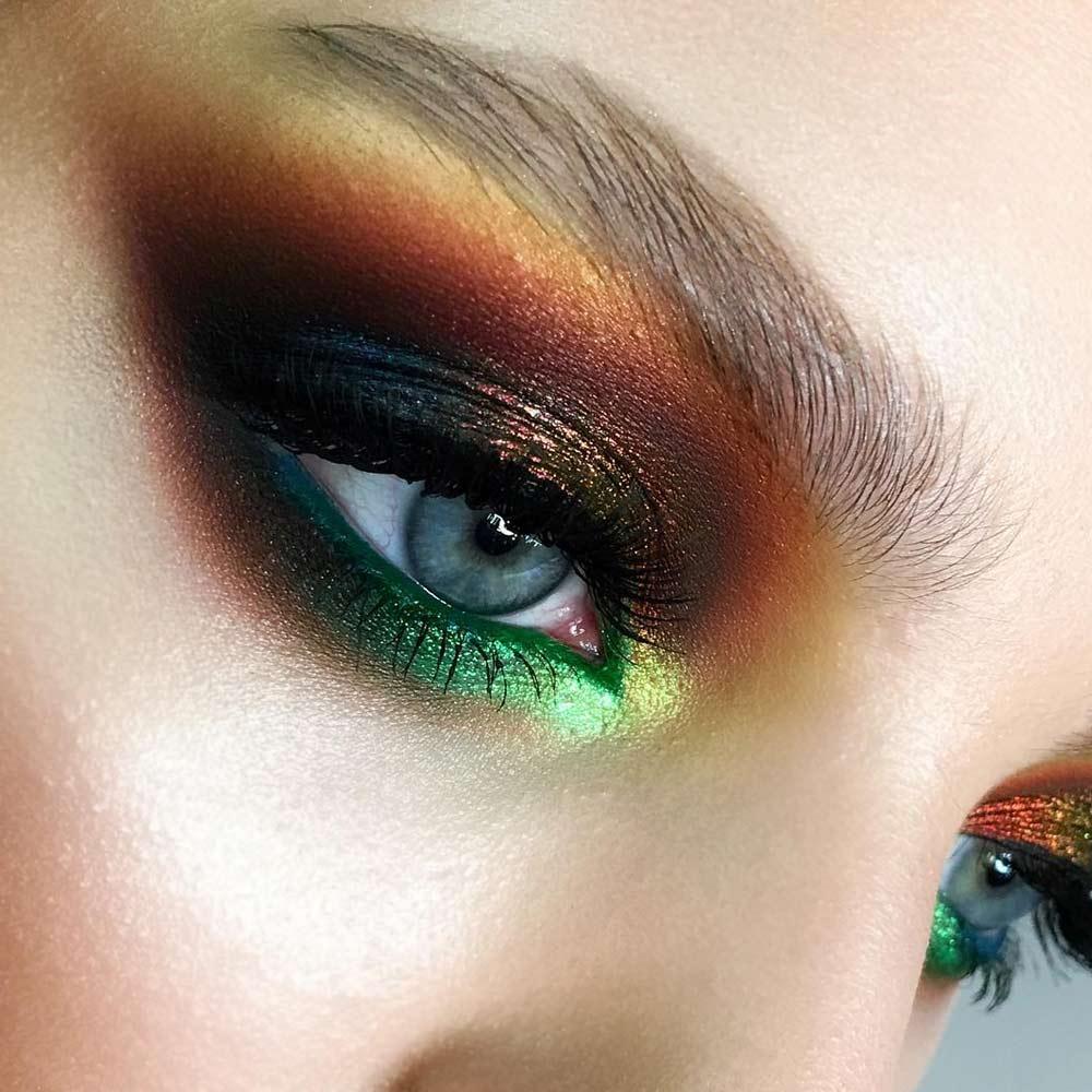 Fall Elegance Eyes Makeup