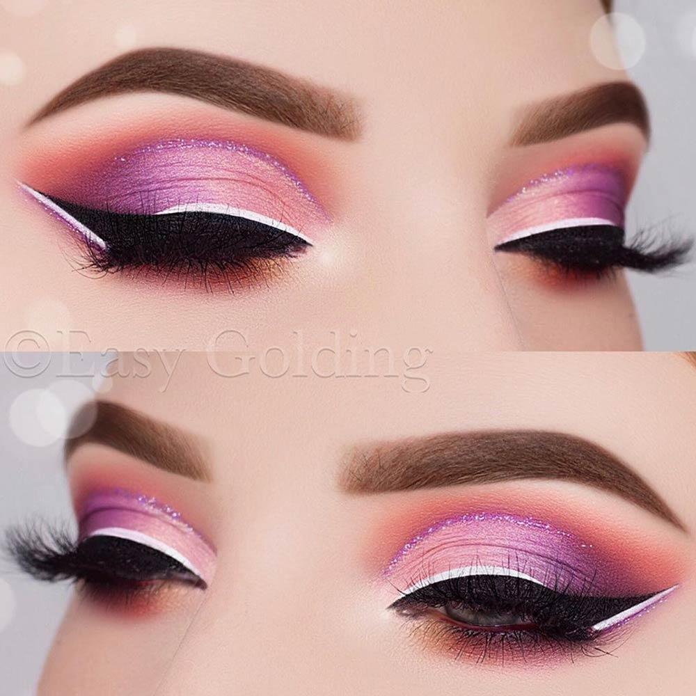 Sweet Makeup Looks With Purple Eyeshadow