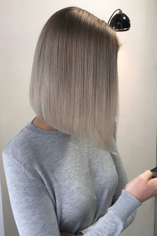 Ash Ombre For Bob Hair