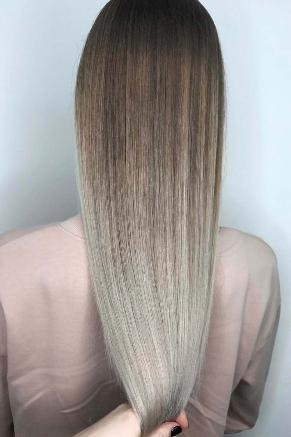Ash Ombre For Long Hair