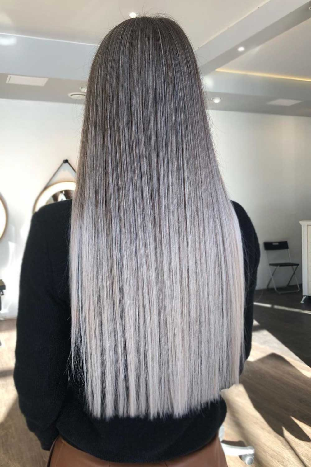 Ash Ombre and Colorful Locks