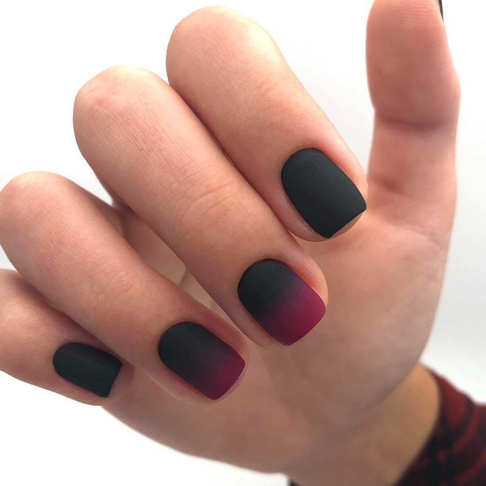 Ombre Mani With Fall Nail Colors