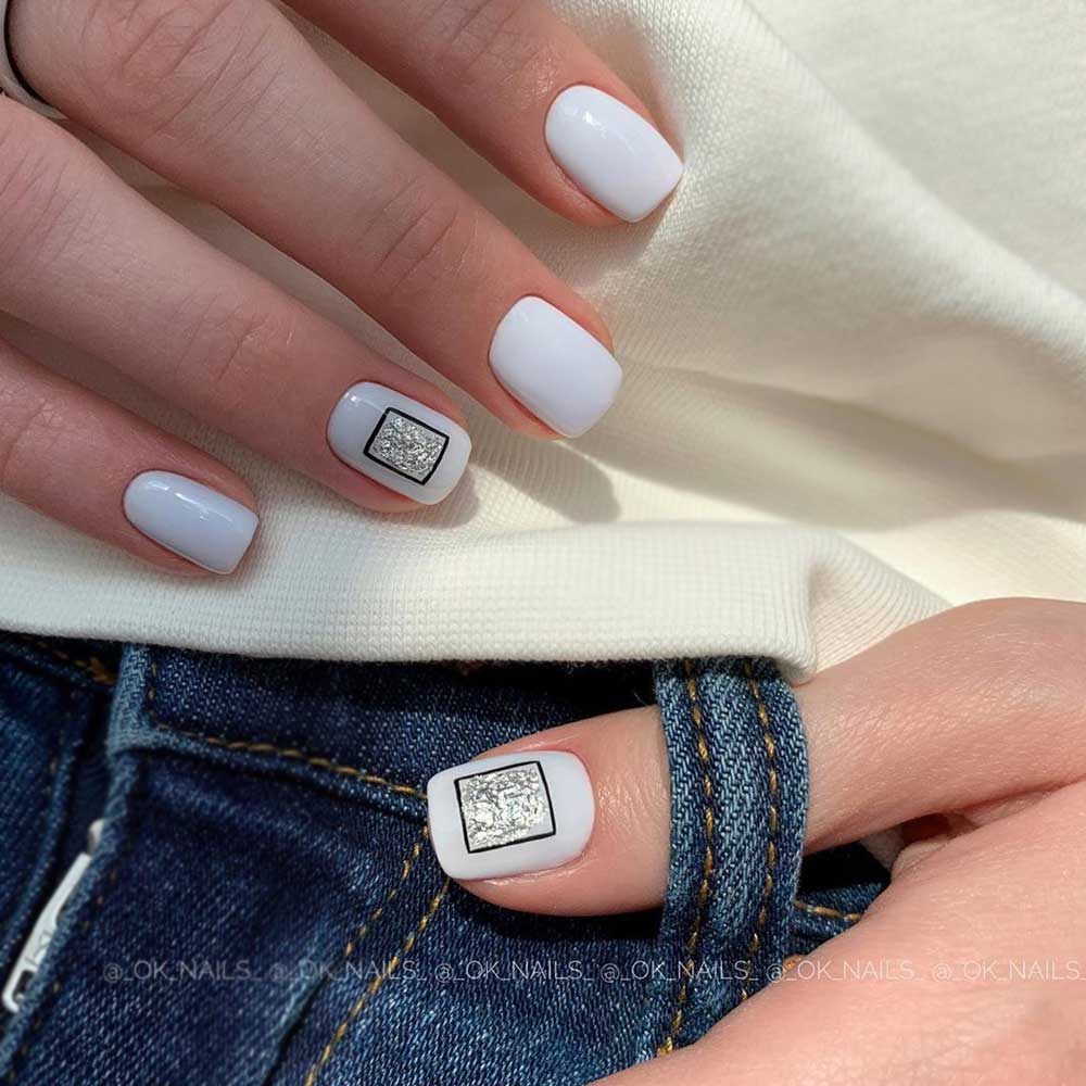 Stylized Geometric and Abstract Nail Designs