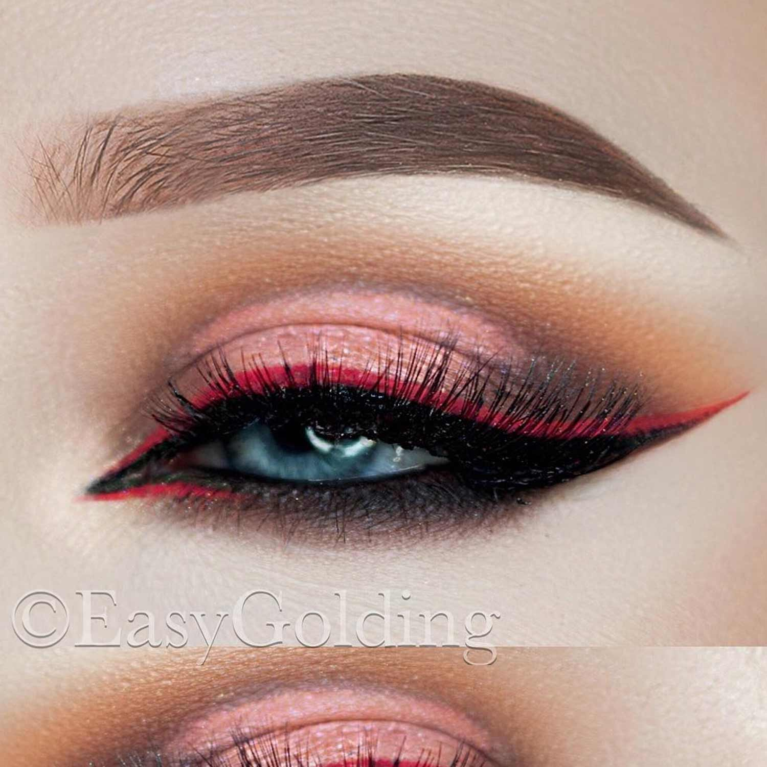 Red Winged Eyeliner Ideas