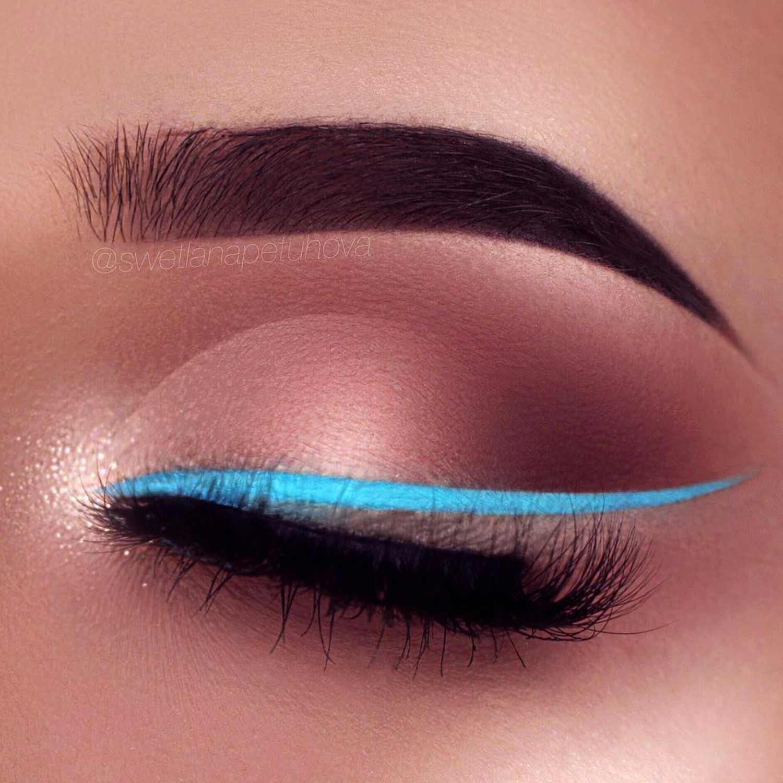 Blue Winged Eyeliner Ideas