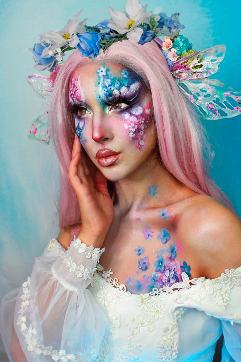 Fancy Makeup Ideas with Flowers Fairies Art