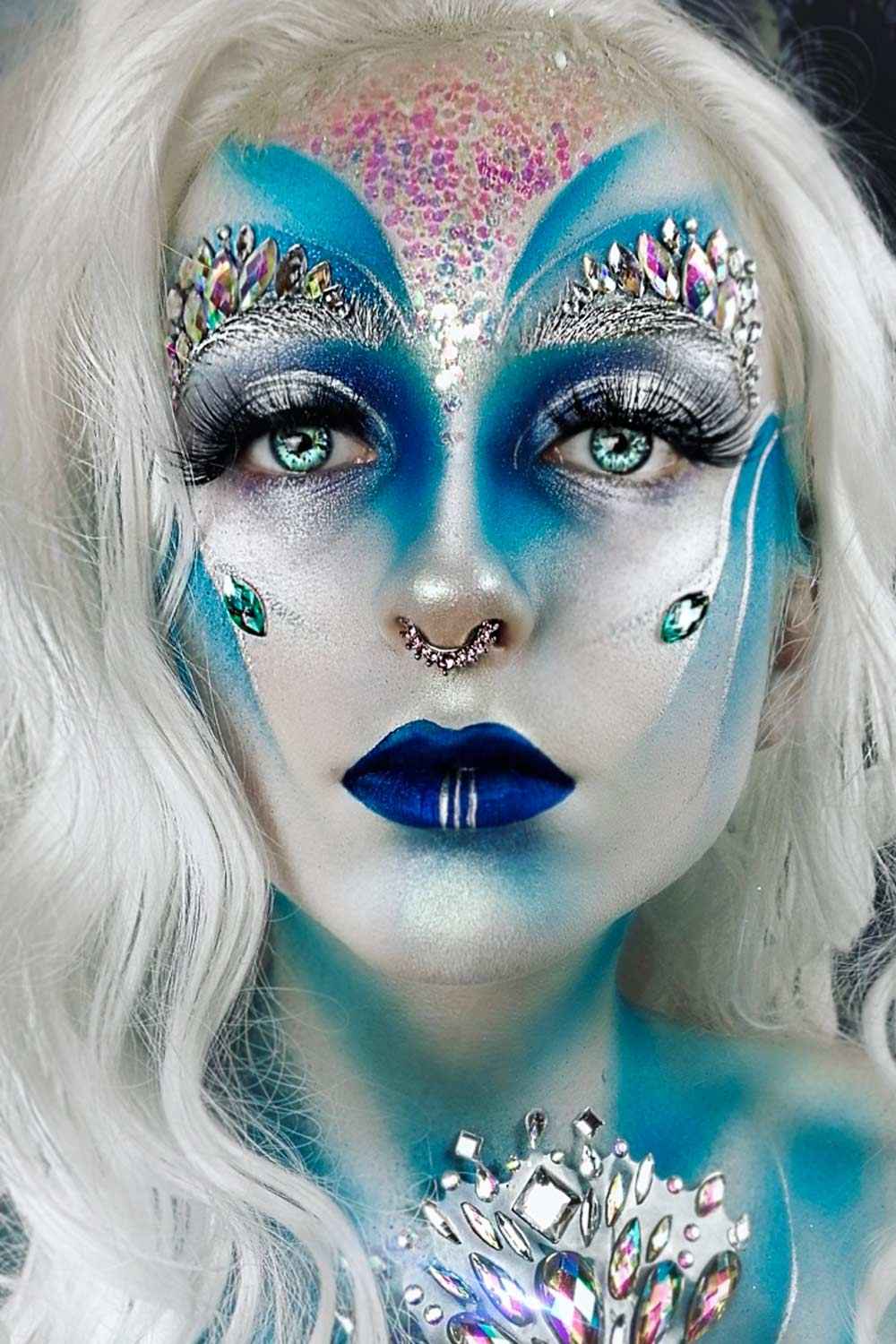Fantasy Sparkly Snow Queen Makeup