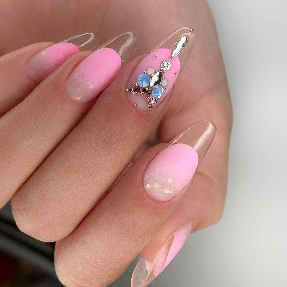 Colorful Nails Design for Homecoming