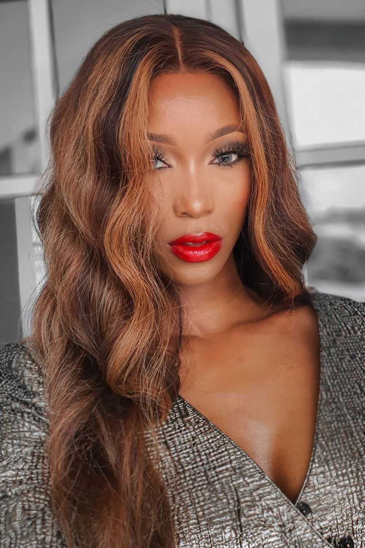 Hot Red Lipstick for Darker Skin