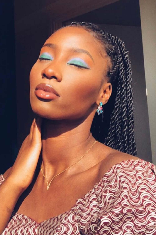 Light Blue Eyeshadow for Darker Skin