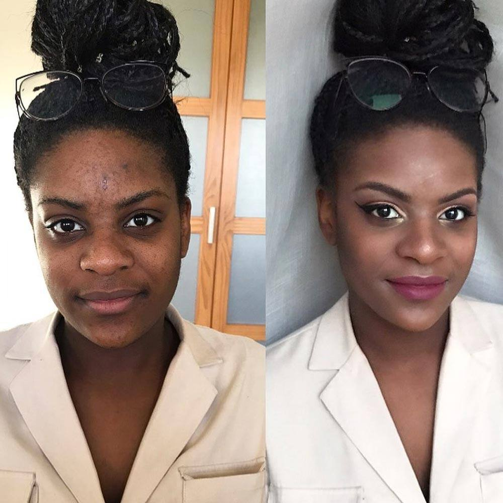 Before and After Makeup Ideas for Darker Skin Tones