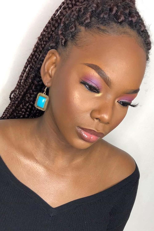 Purple Eyeshadow Colors for Darker Skin