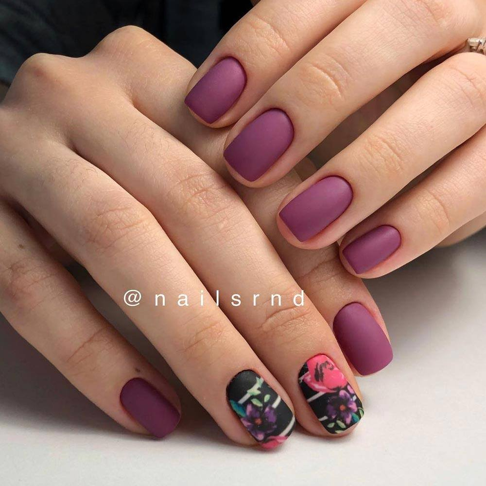 Flower Designs For Mauve Nails