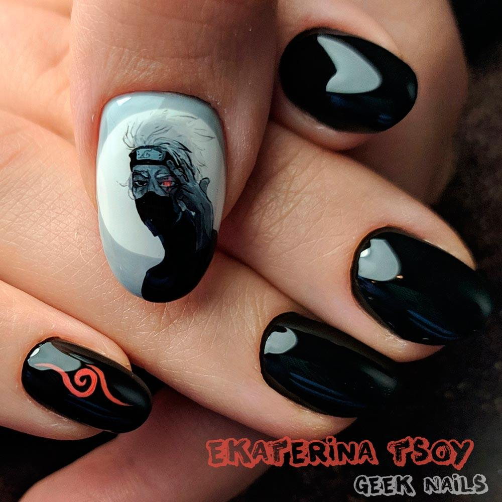 Cartoons and Movies Art for Halloween Nail