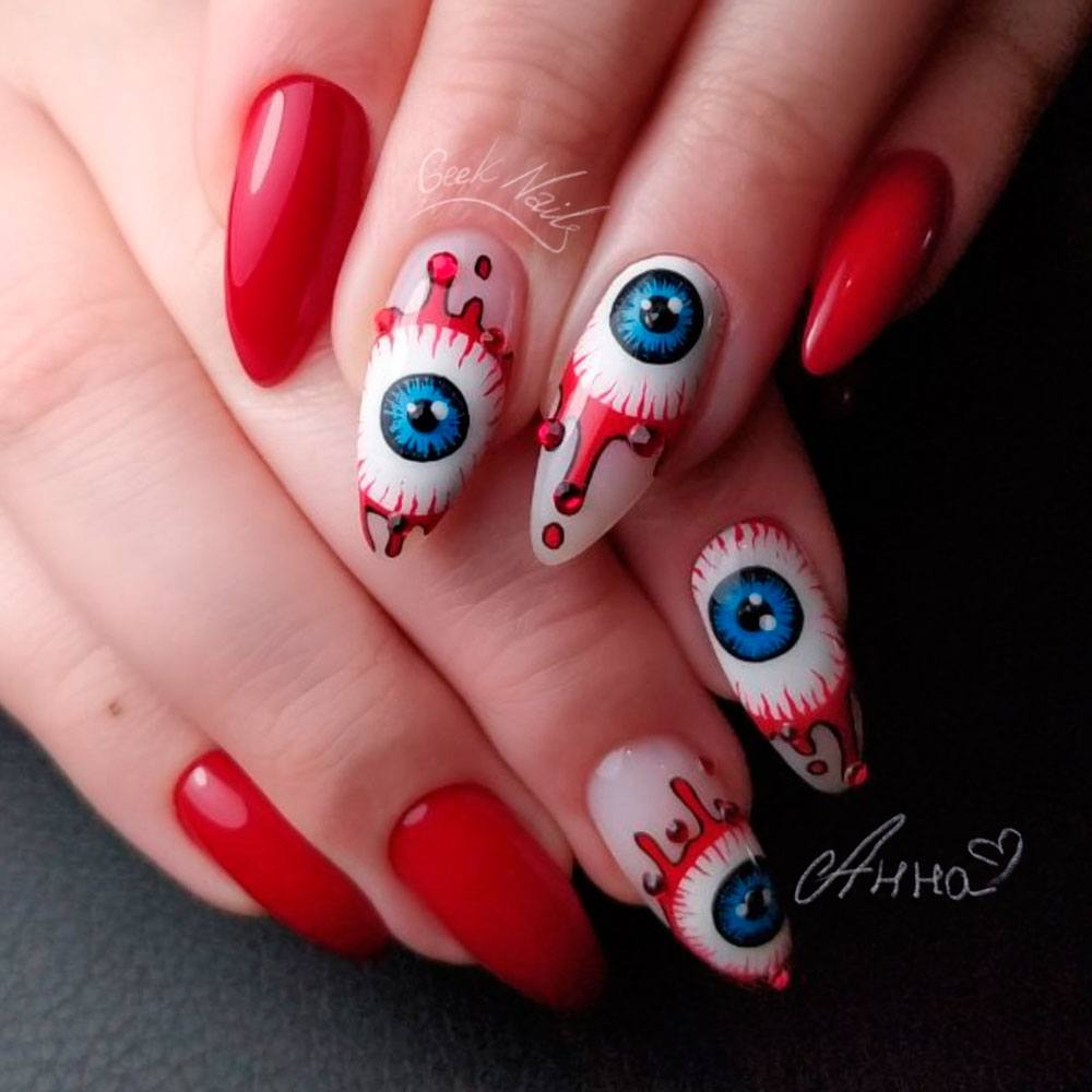 Monster Eyes Nail Art