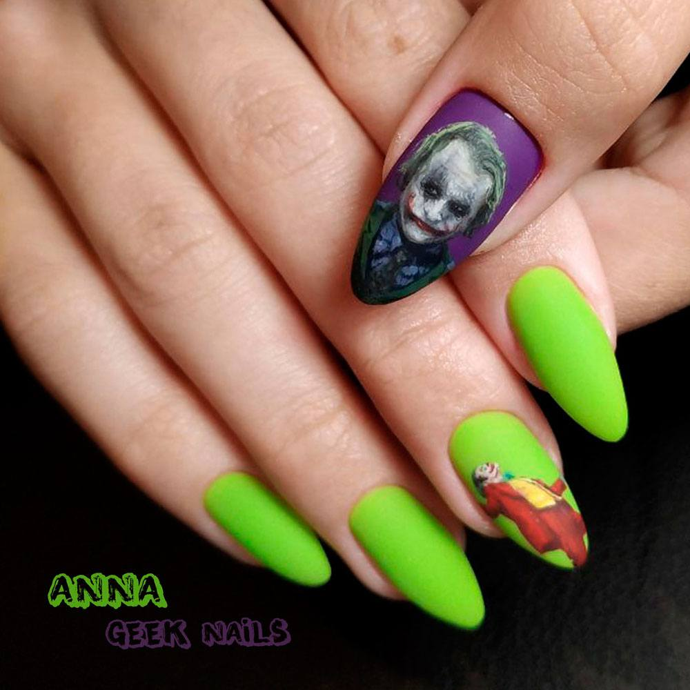 Movies Art for Halloween Nail