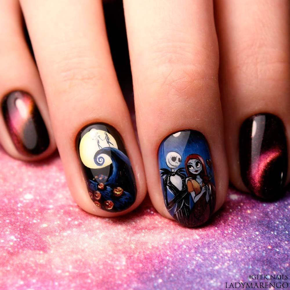 Cartoons Art for Halloween Nails