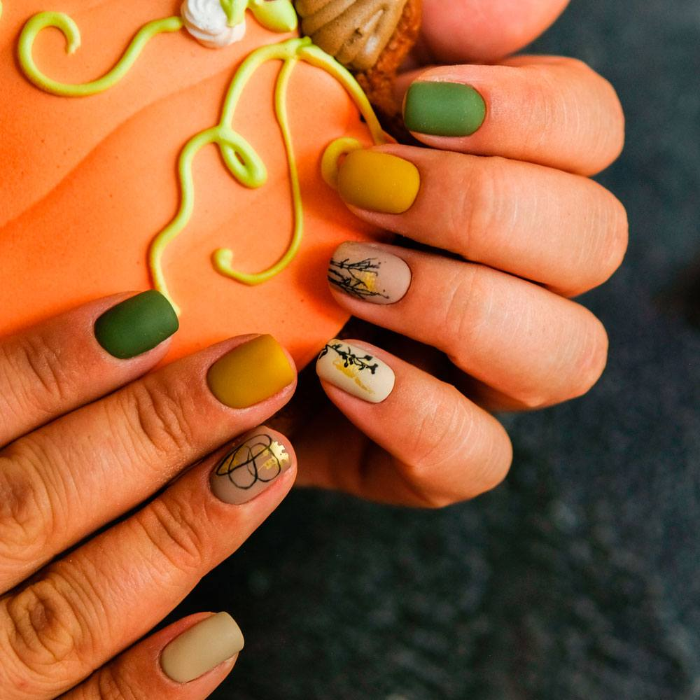 Abstracted Nail Designs For Fall