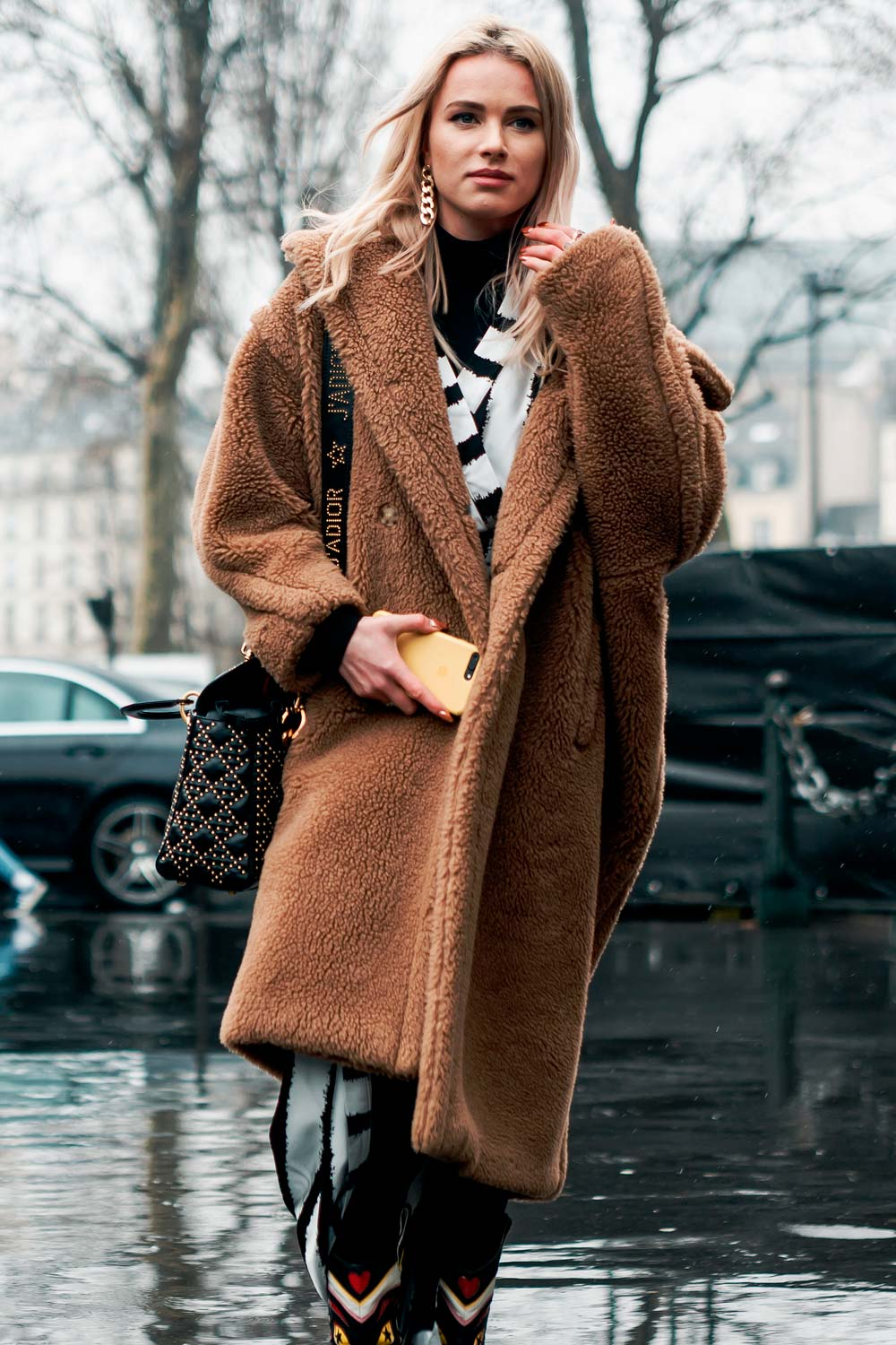 Fluffy Winter Coats Outfits
