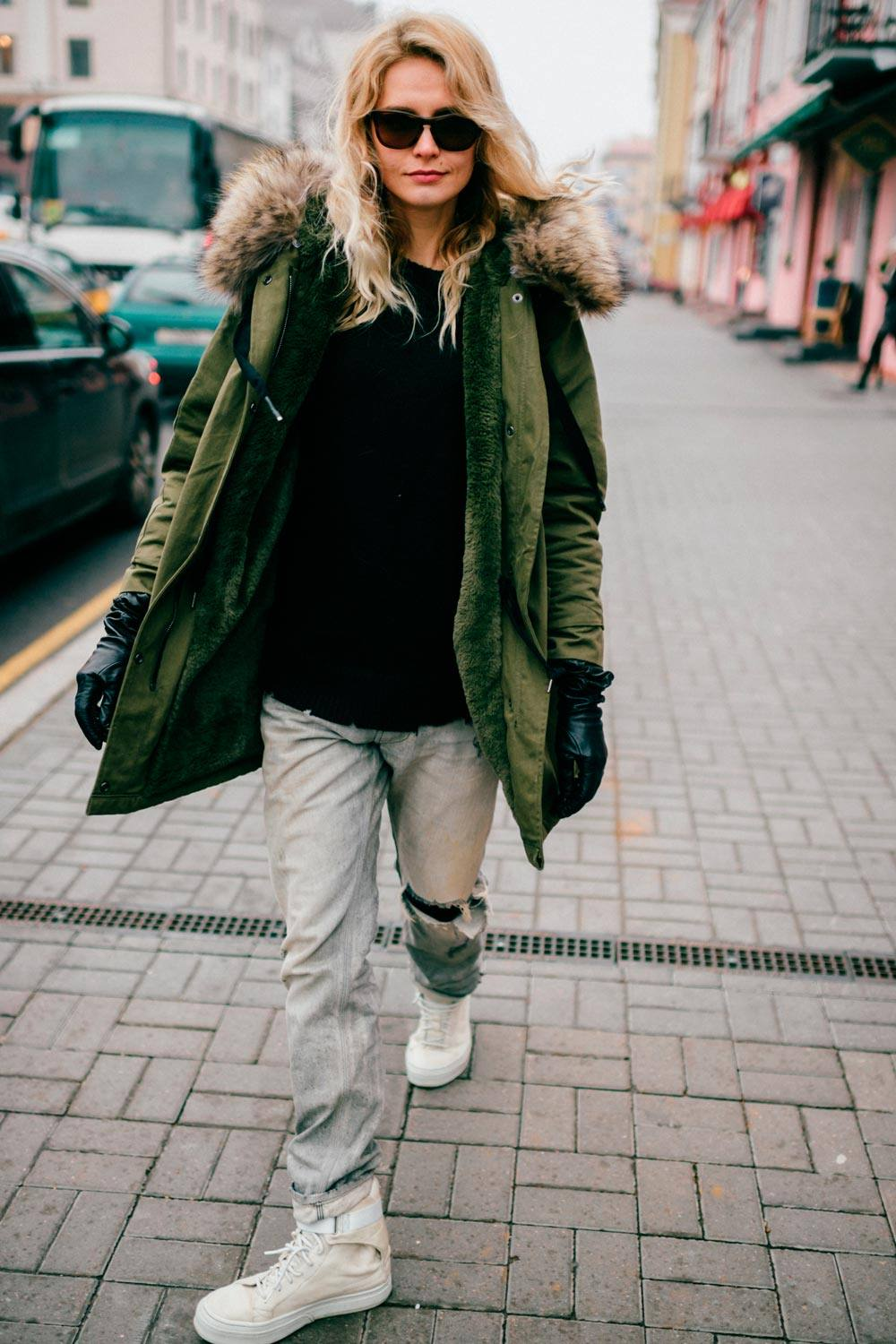 Winter Outfits With Parka Jaket