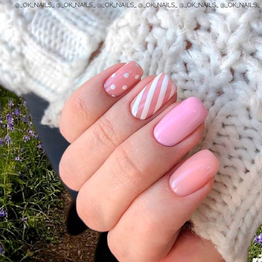 Winter Pastel Pinky  Nails Design