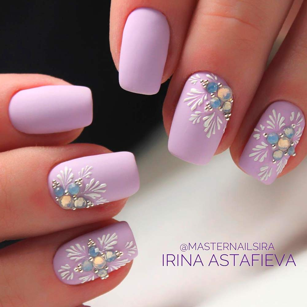 Simple Pastel Pink Nails Design