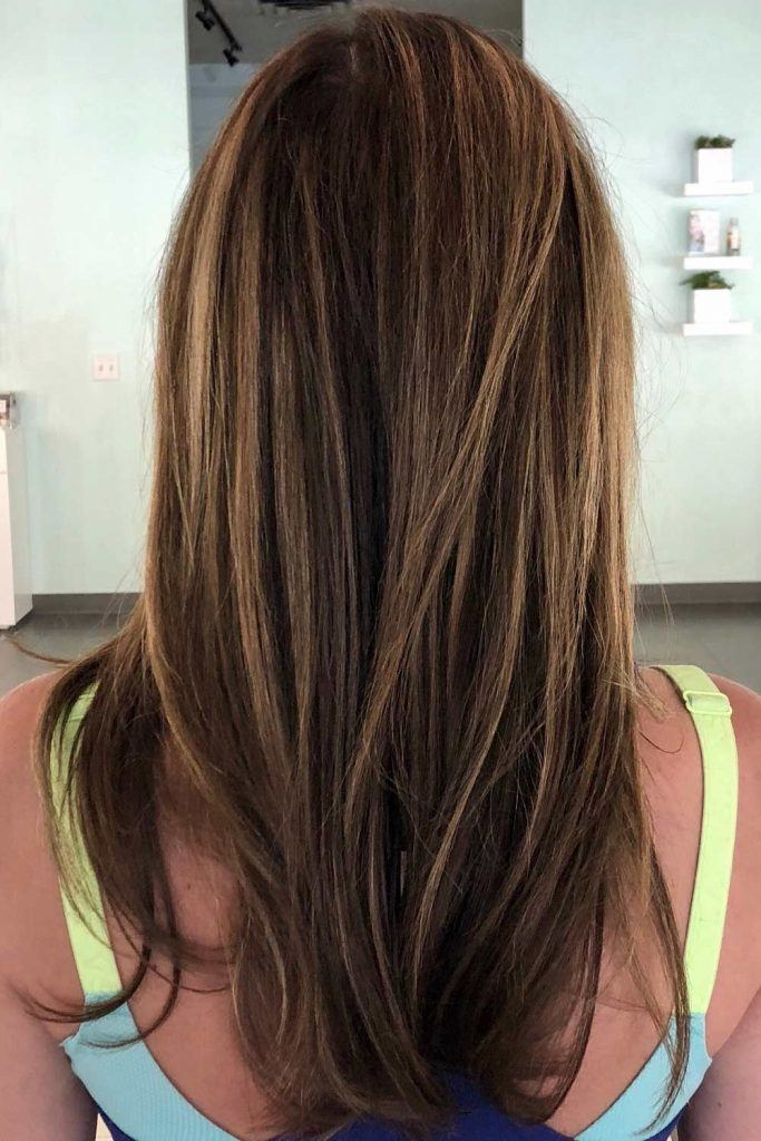 Long Straight Hair with Balayage
