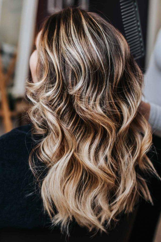 Dark Long Hair with Balayage