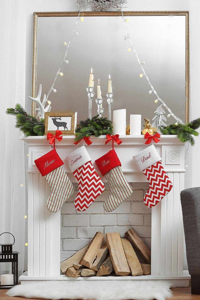 Fireplace Decoration with Neutral Colors