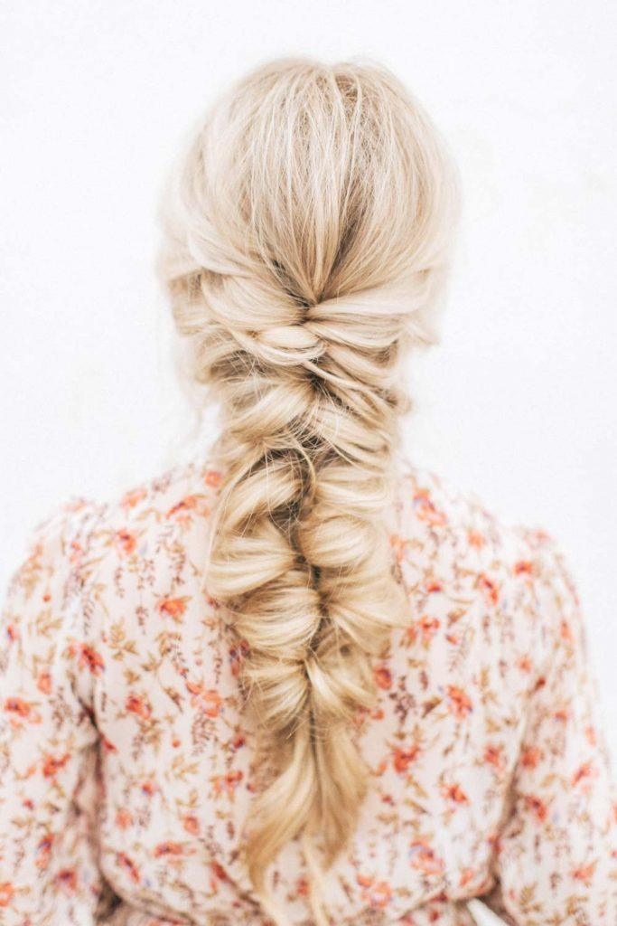 Twisted Braid Hairstyle for Christmas